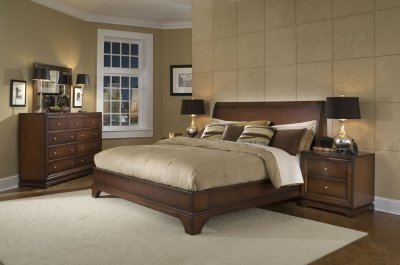 Furniture Modern Bedroom on Antique Walnut Finish Contemporary Bedroom   Modern Furniture Blog